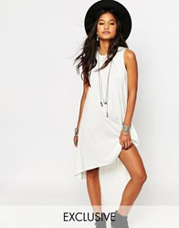 Glamorous Hi Low Hem Vest Maxi Dress Cream