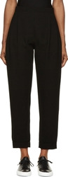 Mcq By Alexander Mcqueen Black Pleated High Waisted Trousers