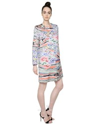 Mary Katrantzou Printed Cotton And Silk Satin Coat