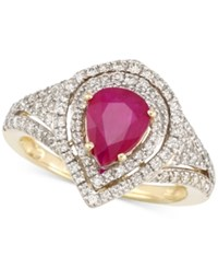 Rare Featuring Gemfield's Rare Featuring Gemfields Certified Ruby 5 6 Ct. T.W. And Diamond 2 3 Ct. T.W. Ring In 14K Gold