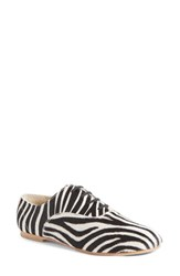 Women's Junya Watanabe Zebra Print Genuine Calf Hair Oxford
