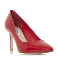 Dune Abbigal Pointed Toe Mid Heel Court Shoes Red