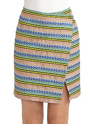 Band Of Outsiders Wrap Skirt Multi