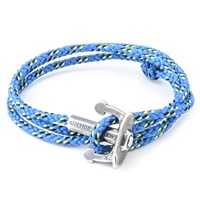 Anchor And Crew Union Rope And Silver Bracelet Solid Blue