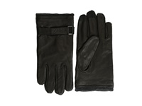 Calvin Klein Belted Leather Glove And Touch Tips Black Extreme Cold Weather Gloves