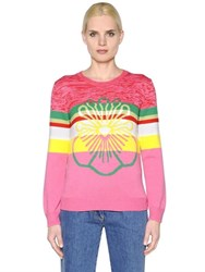 Kenzo Floral Intarsia Wool Knit Sweater
