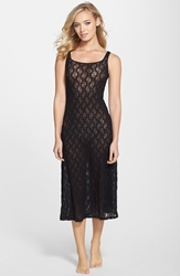 Only Hearts Club Stretch Lace Tank Nightgown Black