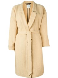 Forte Forte Belted Coat Nude And Neutrals