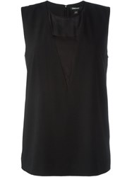 Dkny Layer Loose Fit Tank Top Black
