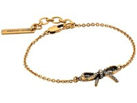 Marc Jacobs Bow Pave Twisted Bracelet Crystal Antique Gold