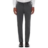 Barneys New York Men's Cotton Cashmere Twill Trousers Grey