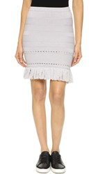 Timo Weiland Fringed Knit Skirt Tunic Heather Grey