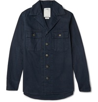 Visvim Willard Slim Fit Cotton Canvas Jacket Blue