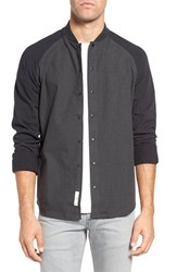 W.R.K Men's Mixed Media Raglan Sleeve Shirt