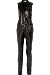Thierry Mugler Belted Leather Jumpsuit