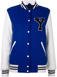 Manokhi Varsity Jacket Blue