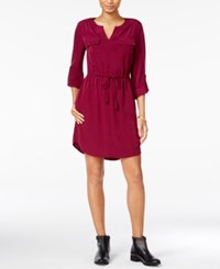 Maison Jules Utility Shirtdress Only At Macy's Cherry Plum