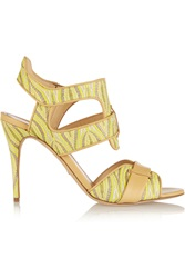 Jerome C. Rousseau Auber Jacquard And Leather Sandals Yellow