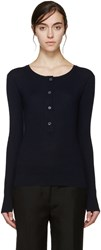 Maiyet Navy Ribbed Cashmere Sweater