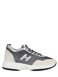 Hogan 30Mm Suede And Mesh Sneakers