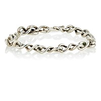 Dean Harris Men's Twisted Infinity Link Bracelet Silver No Color Silver No Color