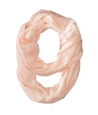 Calvin Klein Lace Trim Infinity Scarf Pearl Scarves White