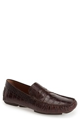 'Vinco' Driving Shoe Men Online Only Brown Croc Print Leather