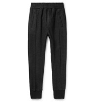 Wooyoungmi Slim Fit Tapered Jersey Sweatpants Dark Gray