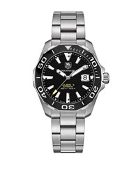 Tag Heuer Aquaracer Stainless Steel Automatic Diver Watch Way211a. Ba092 Silver