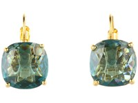 Kate Spade Small Square Leverbacks Teal Earring Blue