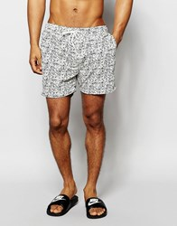 Selected Homme Printed Swim Shorts White