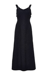 Adam By Adam Lippes Embellished A Line Dress Navy