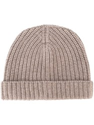 Eleventy Knitted Hat Brown