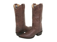 Frye Bruce Pull On Dark Brown Leather Cowboy Boots