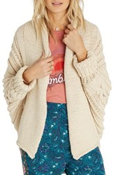 Billabong Women's Icy Sands Cocoon Cardigan White Cap