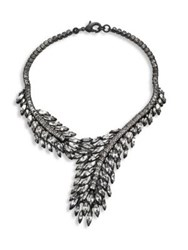 Erickson Beamon Frequent Flyer Crystal Leaf Necklace Silver