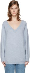 Alexander Wang T By Blue V Neck Sweater