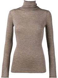 Vince Turtle Neck Jumper Brown