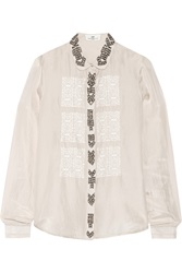 Day Birger Et Mikkelsen Day Gem Embellished Silk Shirt