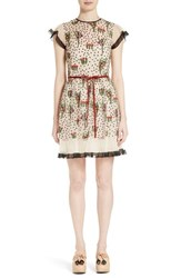 Red Valentino Women's Blooming Garden Embroidered Tulle Dress