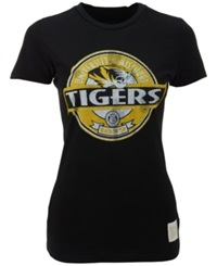 Retro Brand Women's Missouri Tigers Distressed Vintage T Shirt Black