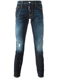 Dsquared2 'Sexy Twist' Jeans Blue