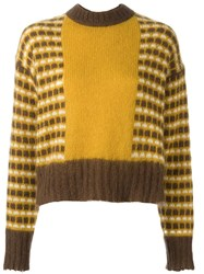 Marni Geometric Jumper Brown