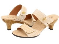 Helle Comfort Bona Beige Giron Leather Women's Sandals