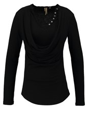 Khujo Quara Long Sleeved Top Meteorite Black
