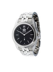 Tudor 'Glamour Double Date' Analog Watch Black