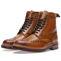 Grenson Fred Brogue Boot Tan