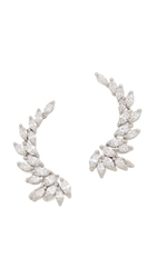 Kenneth Jay Lane Marquis Winged Cz Ear Crawlers Clear