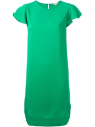P.A.R.O.S.H. Butterfly Sleeve Dress Green