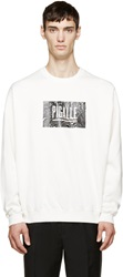 Pigalle White Wave Logo Sweatshirt